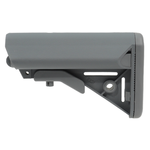 B5 Systems Bravo Enhanced SOPMOD Stock Battery Compartment Quick Detach Mount Mil-Spec Diameter Gray SOP-206-01
