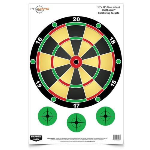 B-c Pregame Shotboard Tgt 8-12x18
