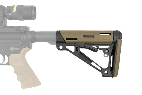 Hogue, Stock, Mil-Spec Buffer Tube Only, AR15 6-Position Stock, Flat Dark Earth (CT35HO15340)