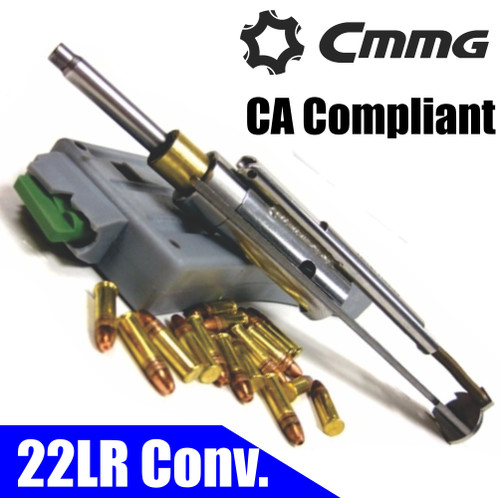 Cmmg 22LR AR Bravo Conversion Kit - 3x10 rd Mags, CA Compliant (CT35CMMG22BA6AE)