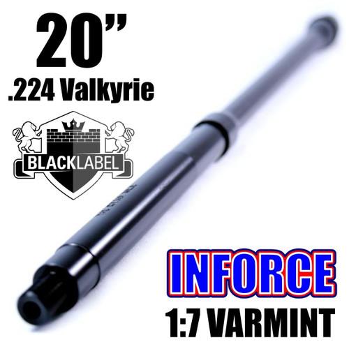 BLACK LABEL INFORCE Series 20'' .224 Valkyrie Nitride 1:7 Varmint Barrel