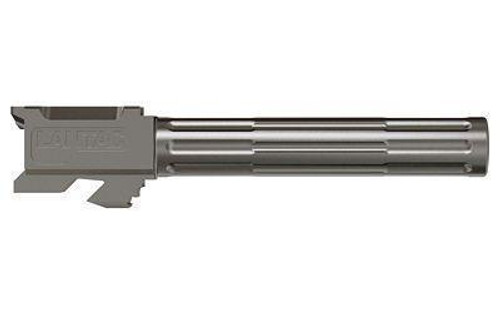"Lantac 9INE Drop In Replacement Barrel GLOCK 17 Fluted/Non-Threaded 9mm Luger 1:10"" Twist Stainless Steel Natural Finish"