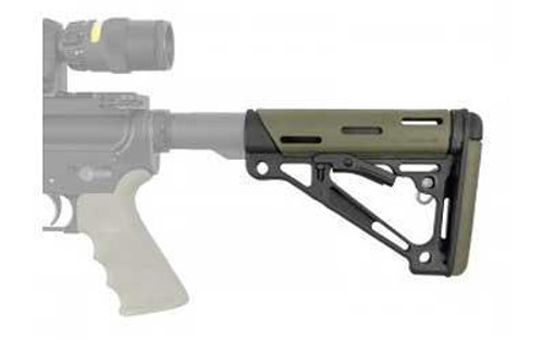 Hogue AR-15 Collapsible Carbine Buttstock Mil-Spec OverMolded OD Green (CT35HO15240)