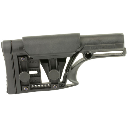 Luth-AR, MBA-1 Fixed Stock, Fits AR-15 & AR-10 Rifle Length A2 Buffer Tube, Black (CT35LUTHMBA-1)