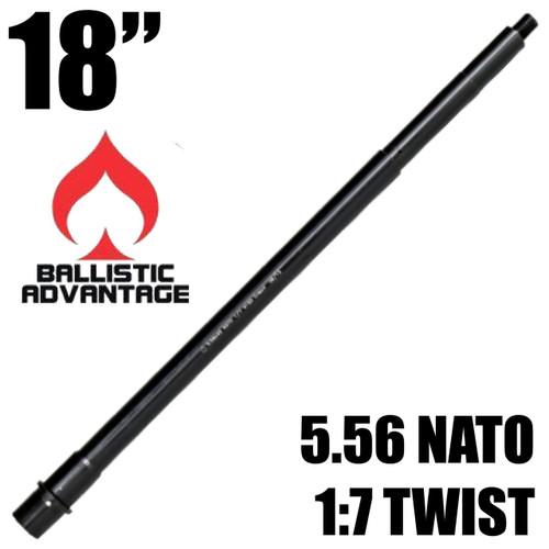 """Ballistic Advantage 18"""" 5.56 SPR Rifle Length AR15 Barrel w/ Ops 12 Modern Series"""