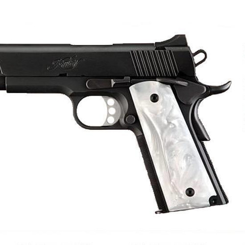 Hogue 1911 Government White Pearlized Handgun Grips White