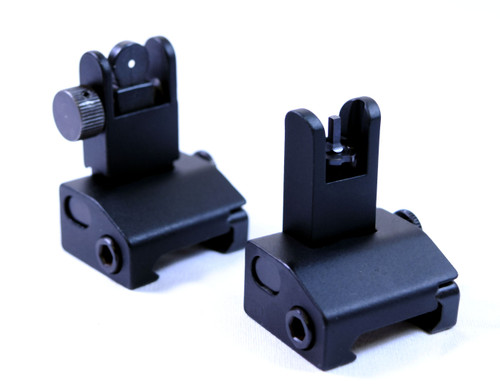 CBUS Metal Pro Back Up/Flip Up Iron Sight Set | Spring Assisted (OP-0717950)