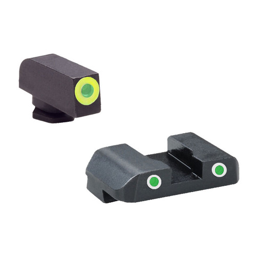 AmeriGlo Pro-GLO Combination Sight Set GLOCK 17/19/22/23/24/26/27/33/34/35/37/38/39 Green