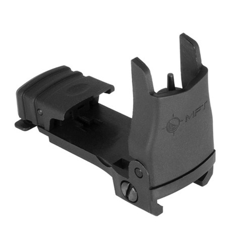 Mission First Tactical Back Up Polymer Flip Up Front Sight, Fits Picatinny | MFT Black