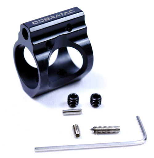 Cobratac Adjustable Gas Block .750 | 3-Gun Nitride