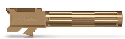 "Lantac 9INE Drop In Replacement Barrel GLOCK 17 Fluted/Non-Threaded 9mm Luger 1:10"" Twist Stainless Steel Bronze Finish"