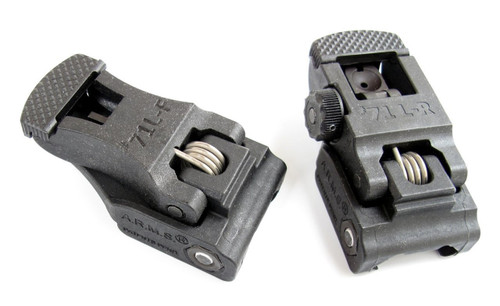 A.r.m.s., Inc. Sight, Fits Picatinny, Polymer Front And Rear Folding Sight Set