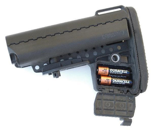 AR-15 EMOD Enhanced Modstock Commercial VLTOR Black Battery Storage and Rubber Butt Pad