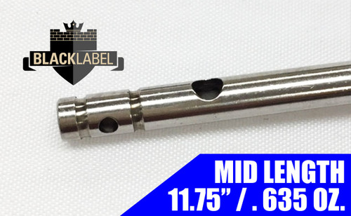 "Black Label Mid Gas Tube 11.75"" - Stainless 