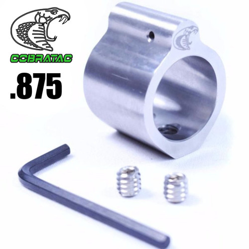 Micro Gas Block Lo-Pro Profile, .875, Stainless Steel