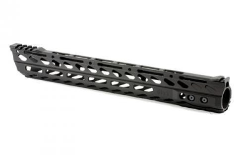 "Phase 5 AR-15 Lo-Pro Slope Nose 15"" Free Float Rail M-LOK Compatible 6061-T6 Aluminum Hard Coat Anodized Matte Black Finish"