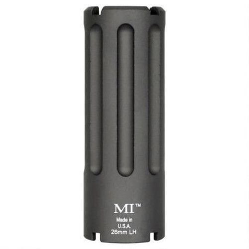 Midwest Industries Blast Can M92/M85 Krink Muzzle Device .30 Caliber Threaded 26mm Left Hand 6061 Aluminum Hard Coat Anodized Matte Black