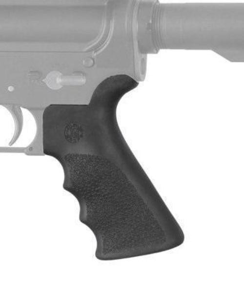 Hogue Ergo Over Molded Rubber Pistol Grip w/ Finger Grooves & Beaver Tail | Black