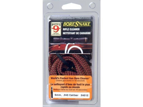 Hoppes Bore Snake Rifle Cleaner | 6mm - .243 Caliber