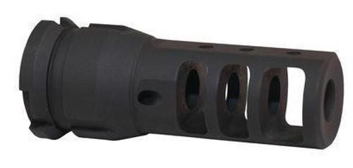 Dead Air Armament AR-15 5.56mm NATO Muzzle Brake/QD Key Mount Suppressor Mount Threaded 1/2x28 Steel Matte Black DA101