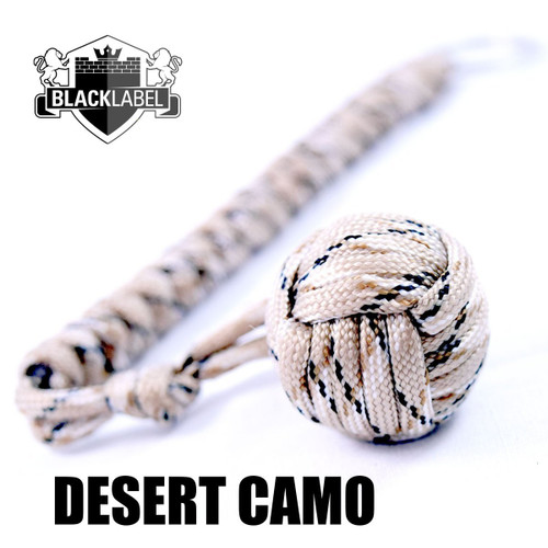 Pit Boss Self Defense Steel Bearing Survival Paracord EDC - DESERT CAMO