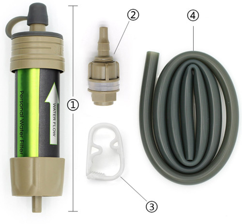 Portable Water Filter System - Outdoor Hiking Camping Emergency