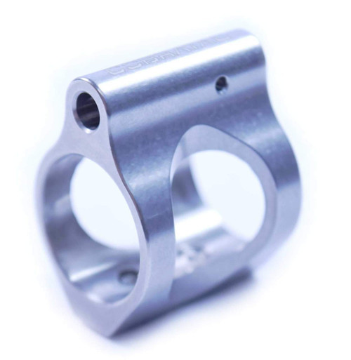 Micro Skeleton Gas Block Lo-Pro .750, Stainless Steel