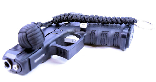 Pit Boss Self Defense Steel Bearing Survival Paracord EDC - BLACK
