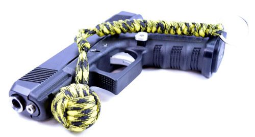 Pit Boss Self Defense Steel Bearing Survival Paracord EDC - YELLOW JACKET