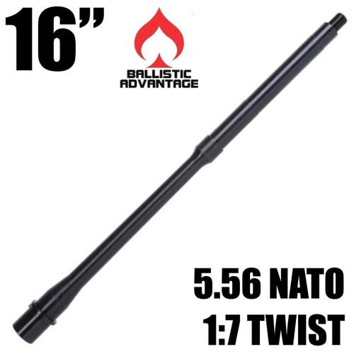 "Ballistic Advantage AR-15 5.56 NATO 16"" Mid-Length gas system, government profile - 1/2x28"
