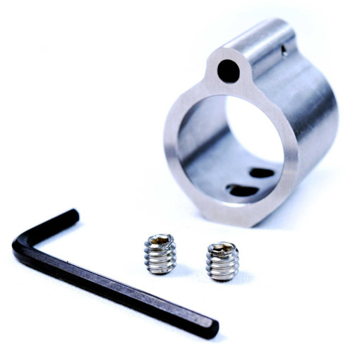 Micro Gas Block Lo-Pro Profile, .907, Stainless Steel