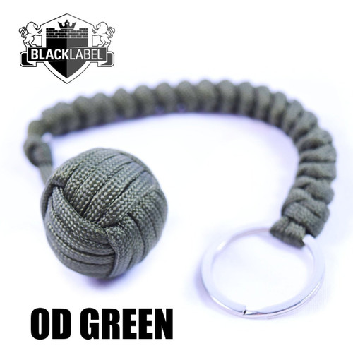 Pit Boss Self Defense Steel Bearing Survival Paracord EDC - OD GREEN