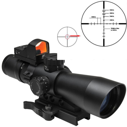 NcSTAR USS Gen II P4 Sniper 3-9x42mm Scope Illuminated w/Micro Red Dot 0.5 MOA (CT35NSTARSTP3942GDV2)