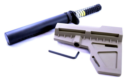 Black Label AR Pistol Stabilizer Brace Kit | FDE