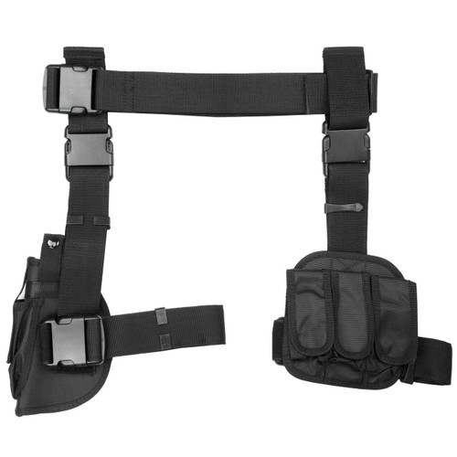 Ncstar Drop Leg Holster Mag Hldr Black