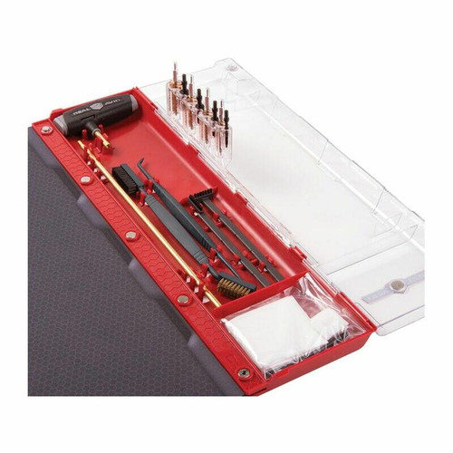 Real Avid Real Avid Master Cleaning Station for Handgun, Kit For .22/.357/.38/.40/.45/9mm, W/Gun Mat and Tools 813119012662