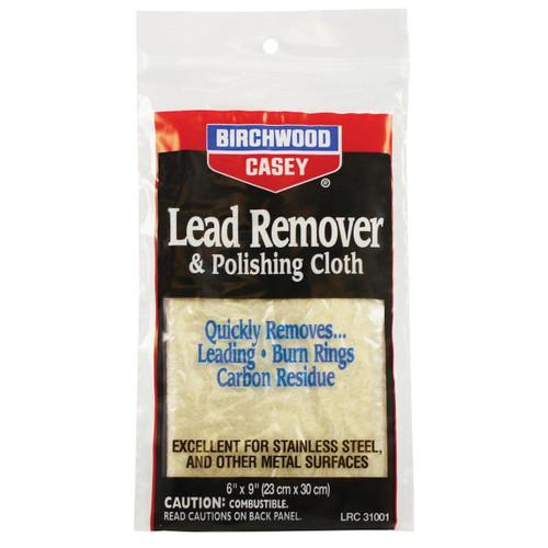 Birchwood Casey B/c Lead Remover W/ Cloth 6x9 029057310023