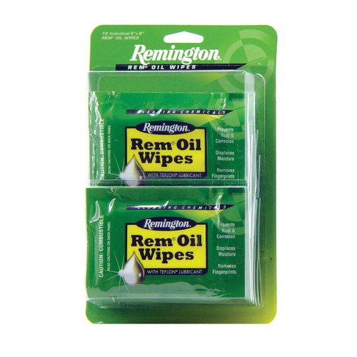 Remington Rem Rem-oil 6x8 Wipes 12/bx 047700184111