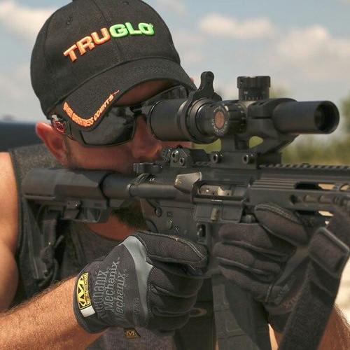 Truglo TRUGLO TRU-BRITE 30 Series 1-6x24 Tactical Rifle Scope Illuminated Duplex Mil-Dot Reticle - .223/.308 BDC 788130023037