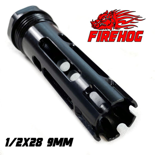FIREHOG Fire Hog Mod-FH -9MM 1/2x28 Flash Hider/Compensator Hybrid Brake