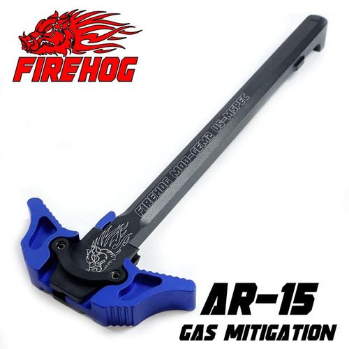 FIREHOG FireHog MOD-GEM2 Ambi Charging Handle with Gas Exhaust Mitigation or Blue AR 15 .223/5.56