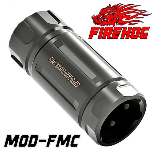 FIREHOG Fire Hog Mod-FMC Black- Flash Suppressor Muzzle Blast Mitigation Brake System