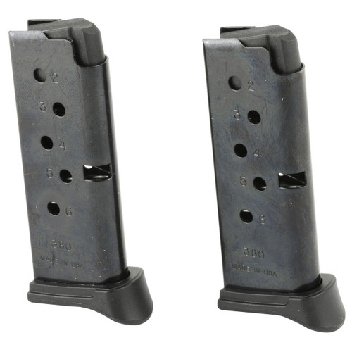Ruger Mag Ruger Lcp 380acp 6rd Bl W/ex 2pk 736676906437