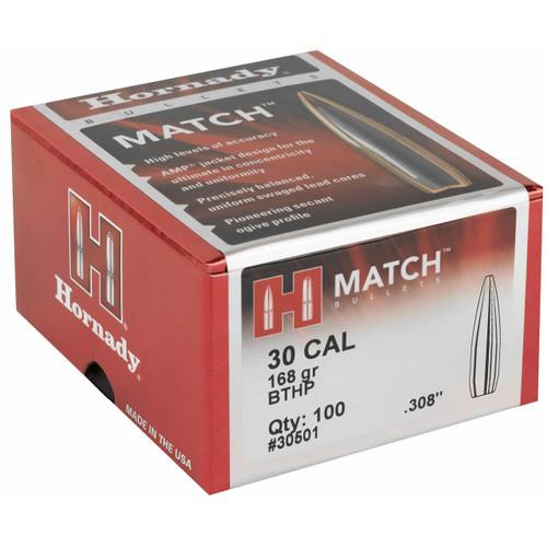 Hornady Hrndy Match 30cal .308 168gr 100ct 090255230512
