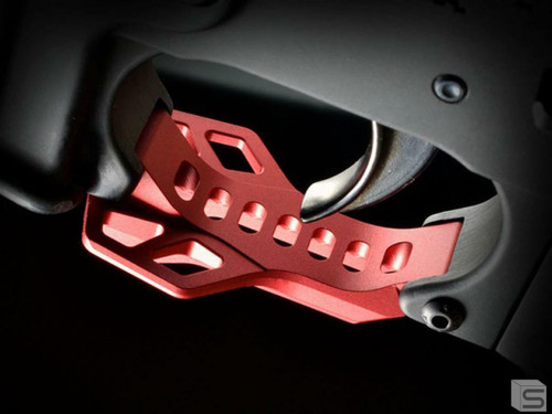 Strike Industries Strike Industries Billet Trigger Guard w/Rest - Red 708747546217