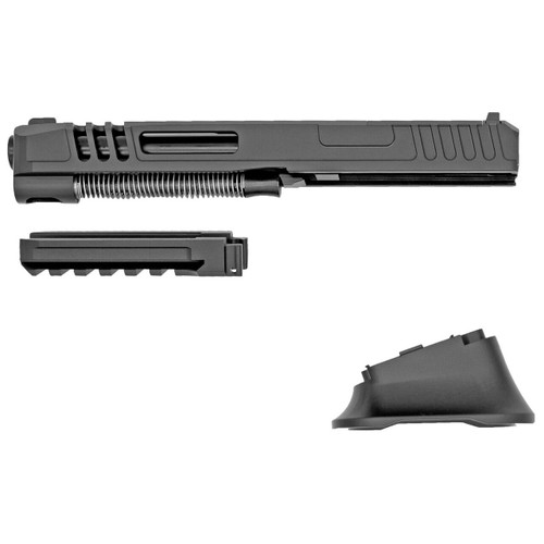ZRO Delta ZRO Delta, Modulus Extended Conversion, 9MM, Black, Slide Assembly 8, Dust Cover, Magwell