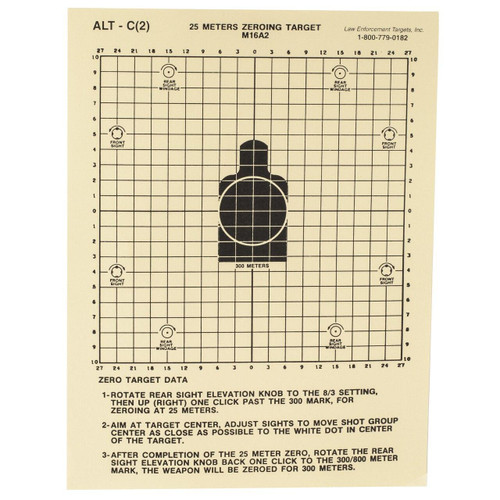Action Target Action Tgt 25 Meters Dod M16a2 100pk 816506026969