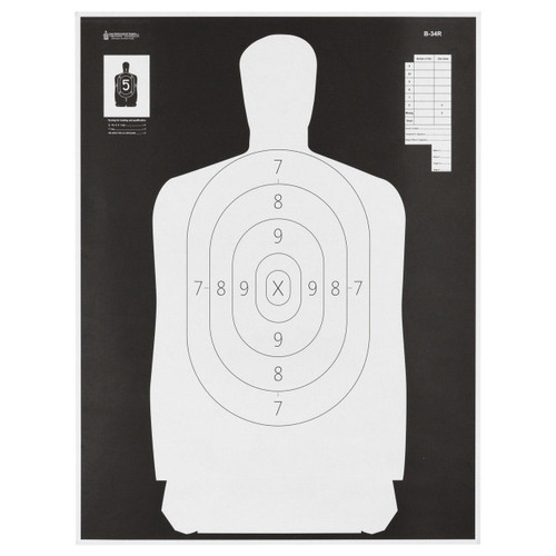 Action Target Action Tgt B34 Blk/wht Silho 100pk 816506026655