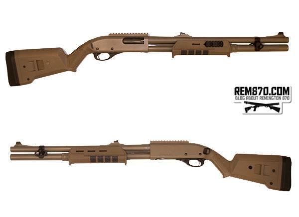 Magpul, SGA Remington 870 12 Gauge Shotgun Adjustable Stock, Polymer, Flat  Dark Earth