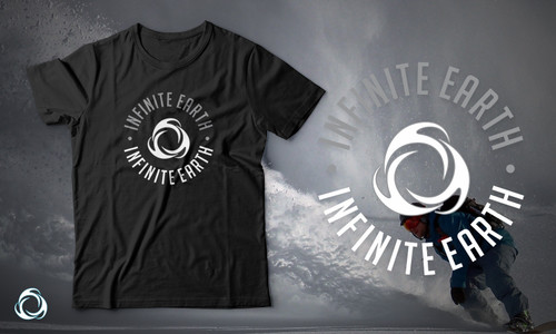 Infinte Earth Black and White Banner with logo